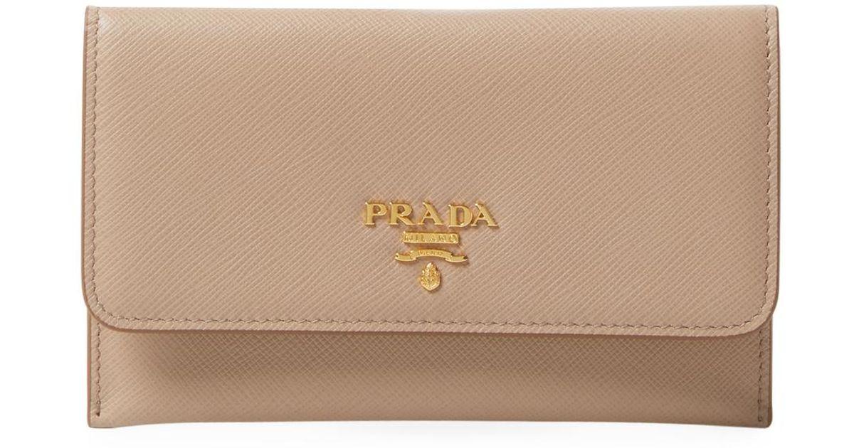 Prada Portafoglio Leather Long Wallet