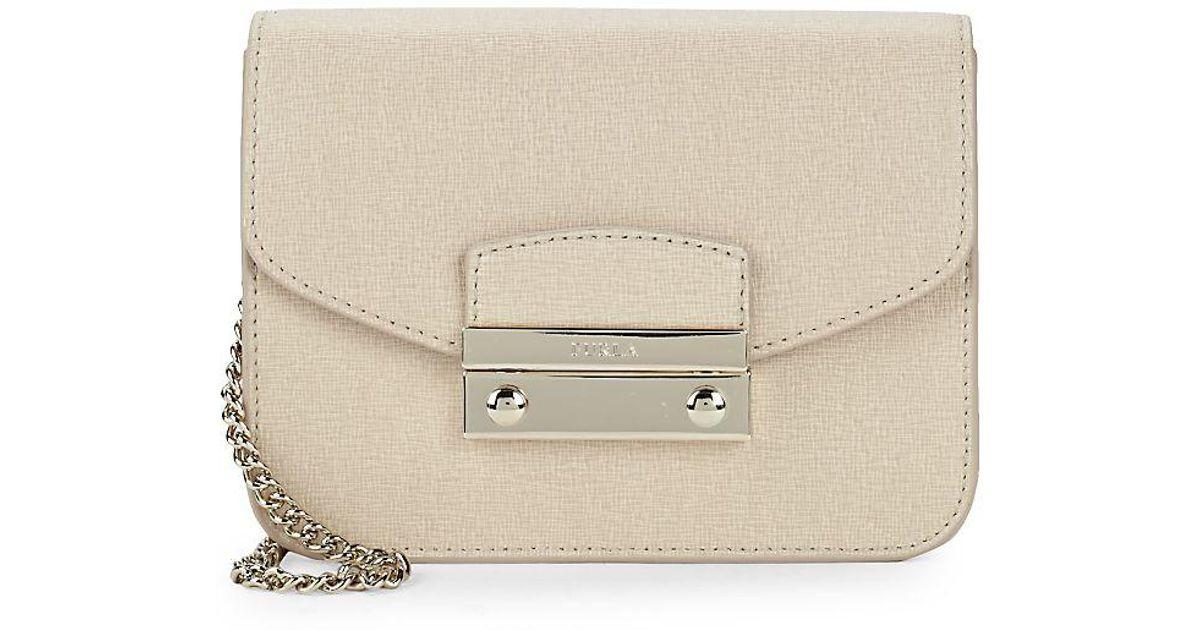 35a7eb52cb58 Lyst - Furla Julia Saffiano Leather Shoulder Bag