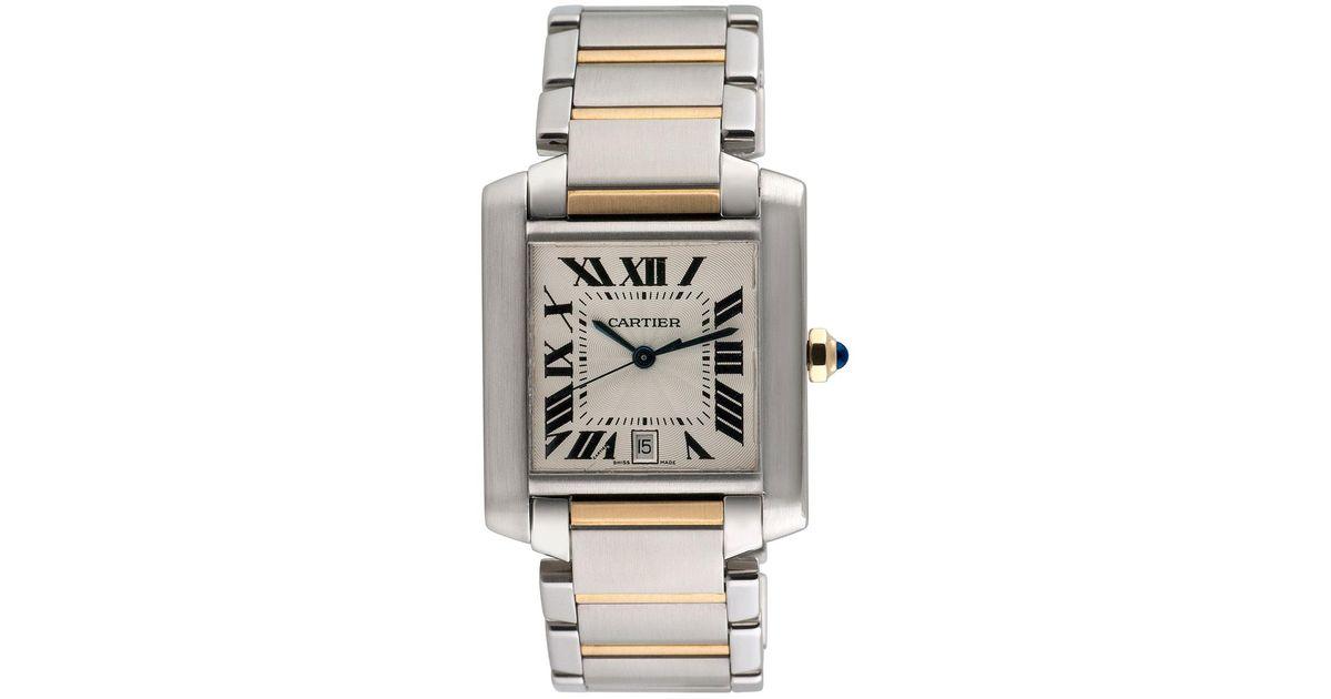 b9b493c8aff4 Lyst - Cartier Vintage Cartier Tank Francaise Watch