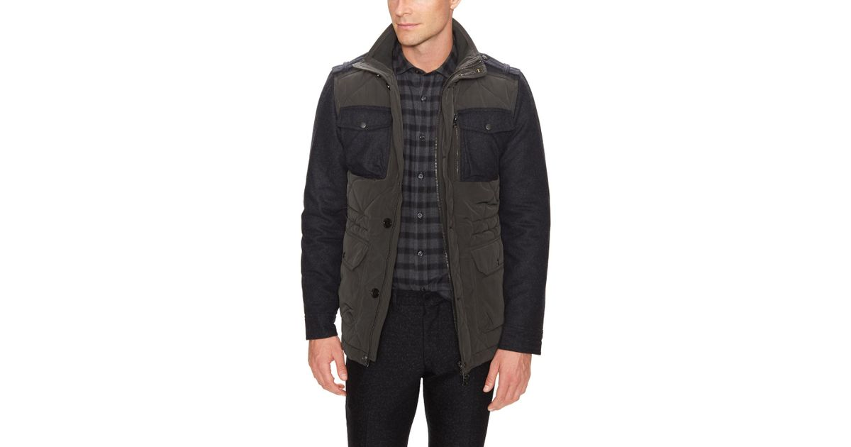 bcfd760673 Lyst - J.Lindeberg Structured Trapper Coat in Gray for Men