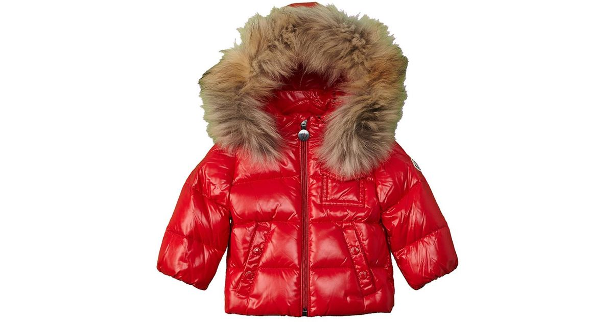 aa9c75ac73a4 Lyst - Moncler Kids  Down Coat in Red