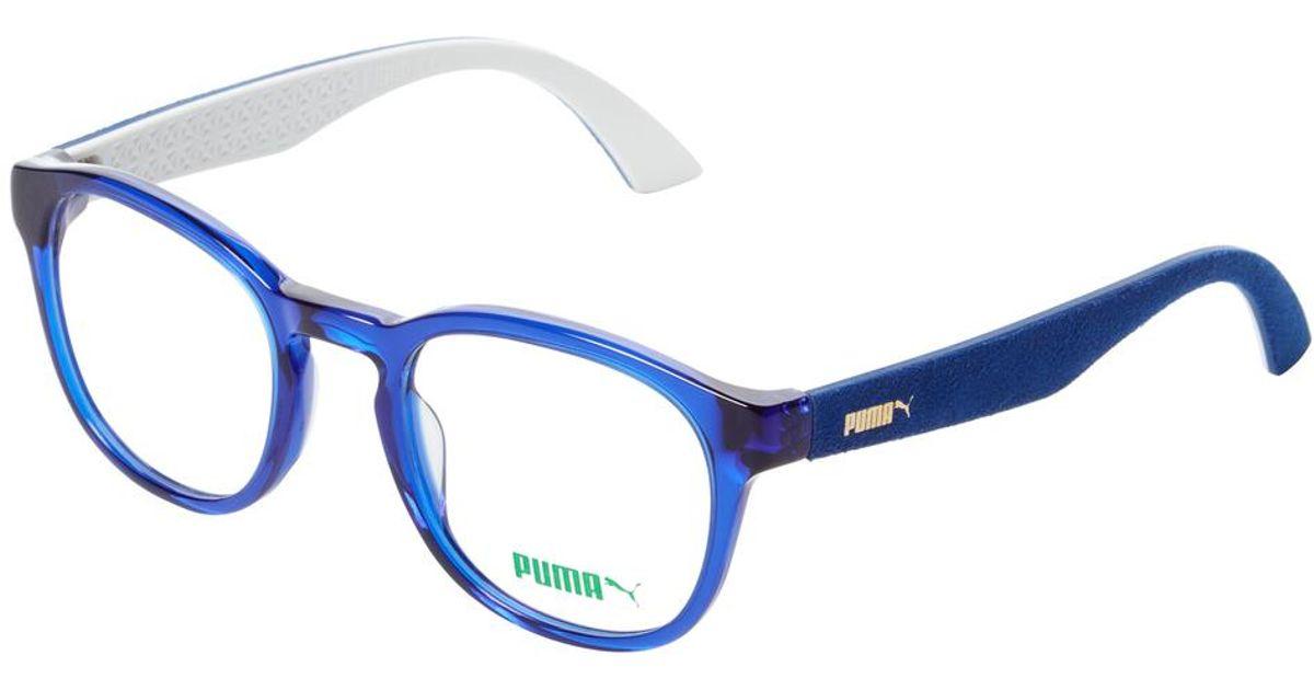 Lyst - Puma Keyhole Wayfarer Optical Frame in Blue for Men
