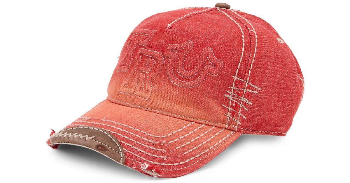 Lyst - True Religion Denim Cotton Baseball Cap in Blue for Men 51a6e626de43