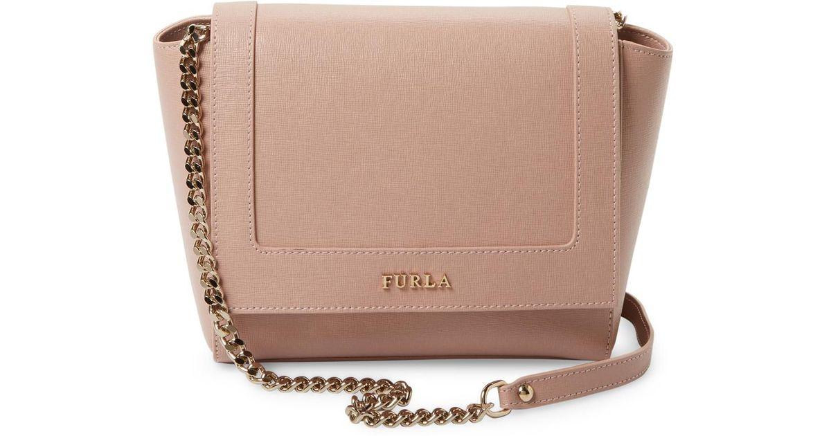 8611d8ec27 Lyst - Furla Ginevra Mini Crossbody Bag in Pink
