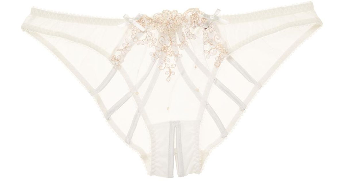 Lyst - L Agent by Agent Provocateur Lusina Ouvert Brief in White 29556857a