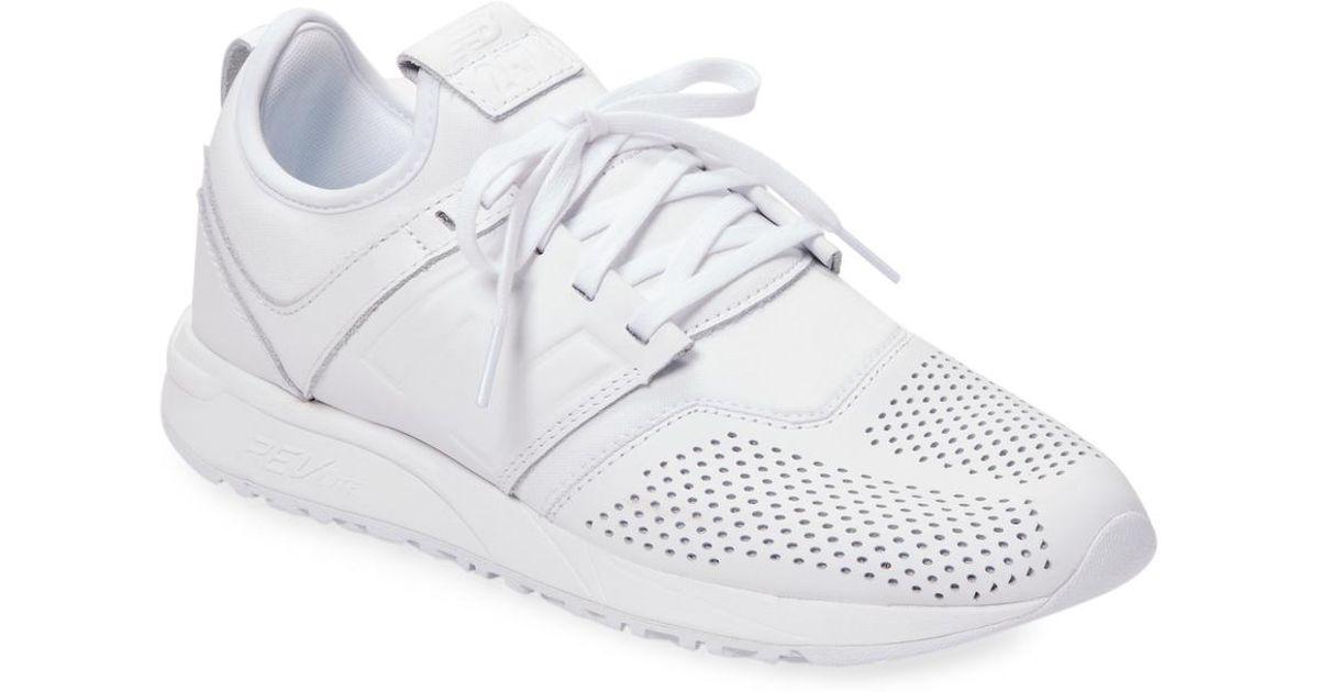 new balance 247 leather white