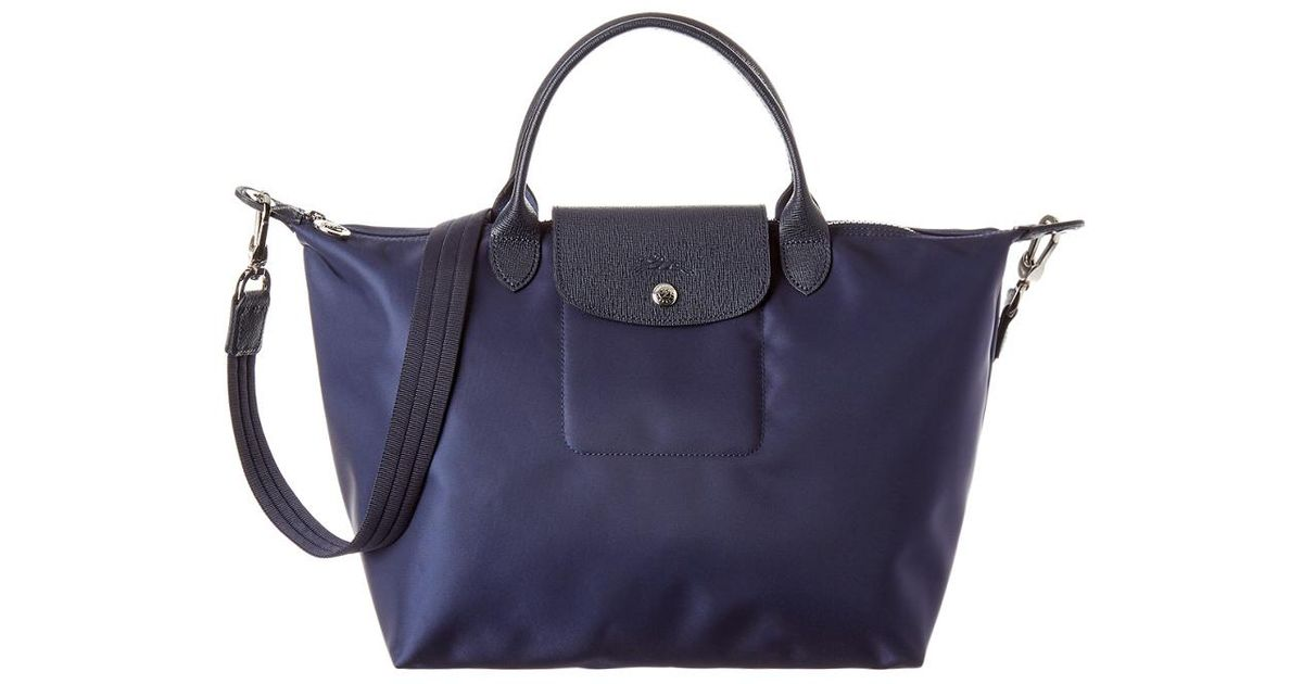 00549bc8d Longchamp Le Pliage Neo Medium Nylon Top Handle Tote in Blue - Lyst