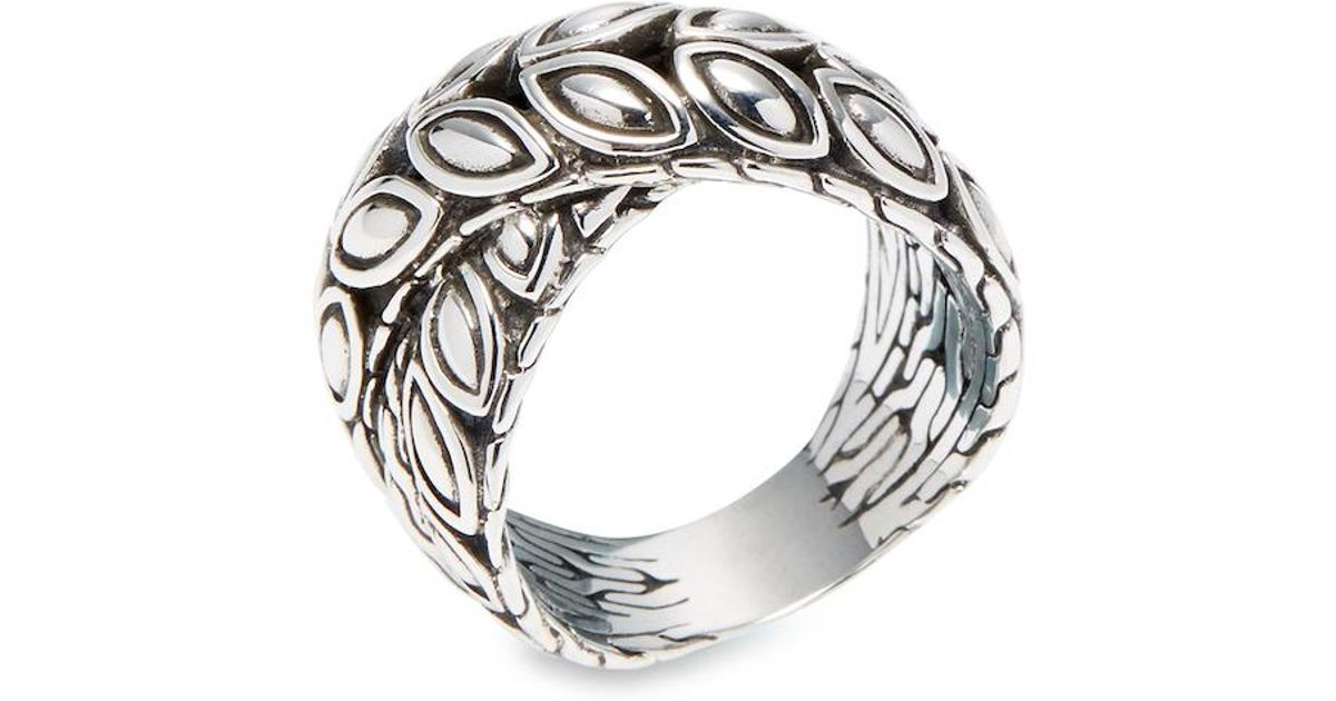 John Hardy Padi Silver Twist Ring, Size 7