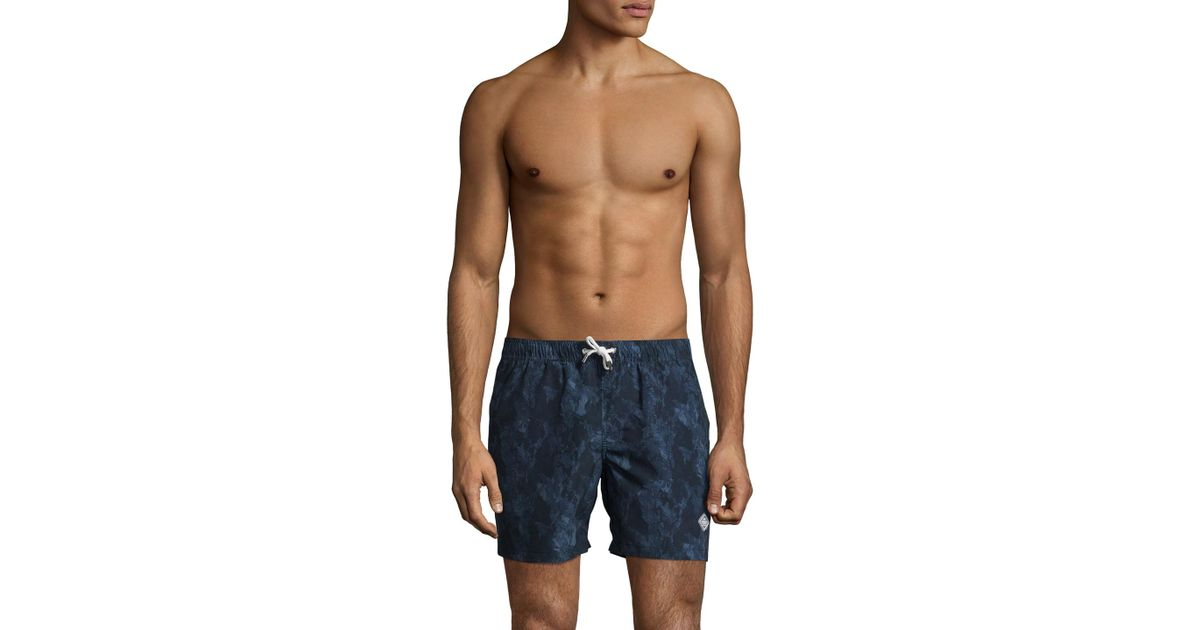 85e9d31ba9 J.Lindeberg Banks Pattern Swim Trunks in Blue for Men - Lyst