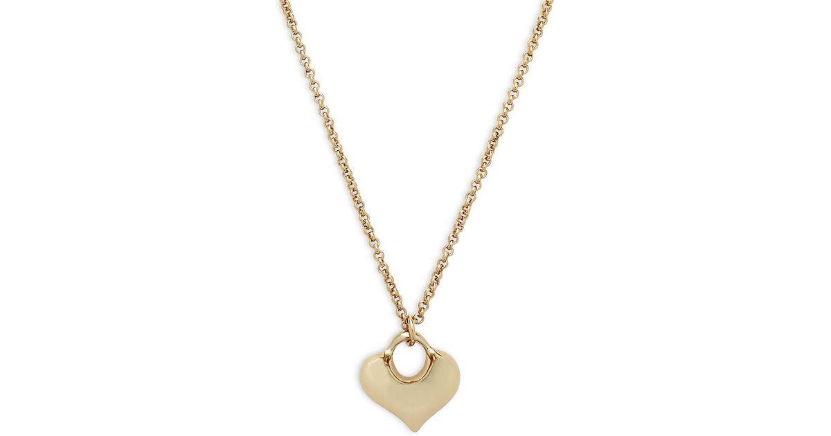 Lyst robert lee morris puffy heart pendant necklace in metallic lyst robert lee morris puffy heart pendant necklace in metallic save 17 aloadofball Gallery