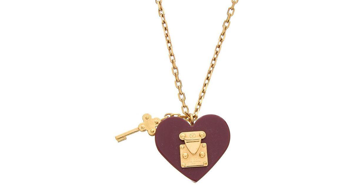 b5f2874bad18 Lyst Louis Vuitton Purple Lock Me Necklace In Metallic. Louis Vuitton  Lockme Ii Bb Shoulder Bag ...
