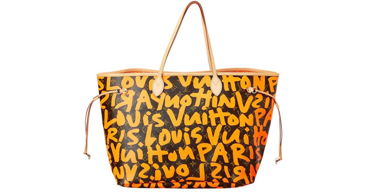 Lyst - Louis Vuitton Limited Edition Stephen Sprouse Orange Graffiti Monogram  Canvas Neverfull Gm in Orange e465812ee72e0