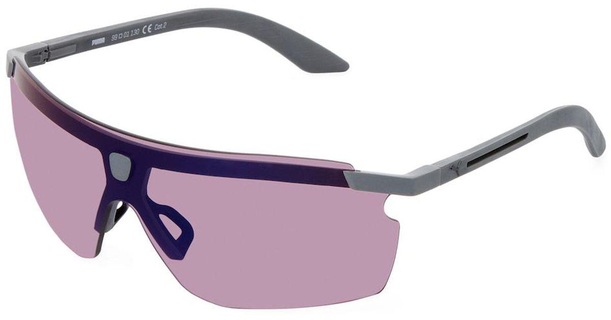 Lyst - Puma Saddle Tinted Wraparound Frame in Purple