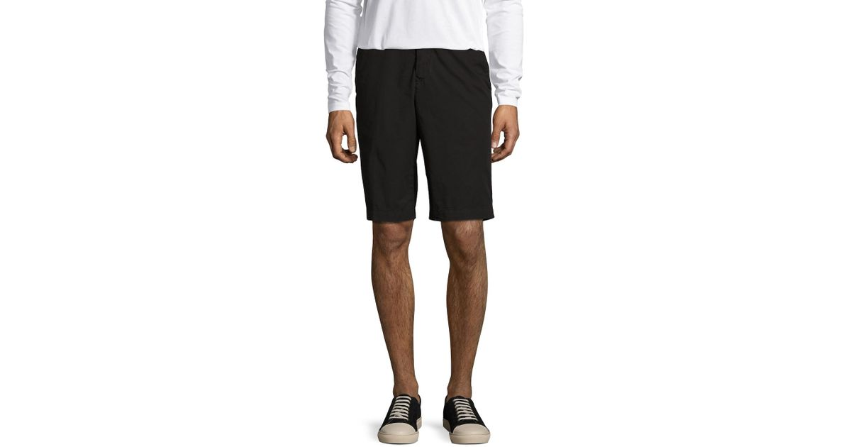 b03682f27641 Lyst - Kenzo Cotton Solid Flat Front Shorts in Black for Men