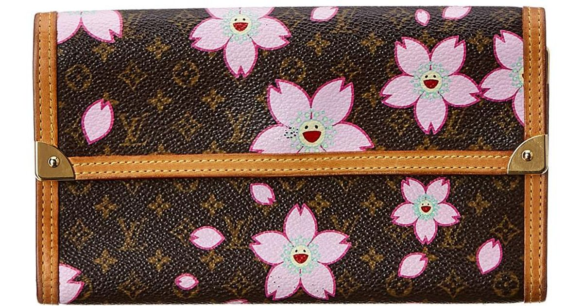 b176cfeb2d12 Lyst Louis Vuitton Limited Edition Takashi Murakami Cherry Blossom. Louis  Vuitton Limited Edition Cherry Blossom Monogram Canvas Sac Retro Bag
