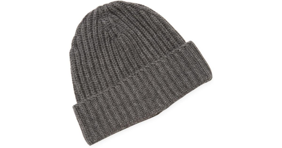 c687cc2d3ed Lyst - Hickey Freeman Ribbed Hat With Cuff in Gray for Men