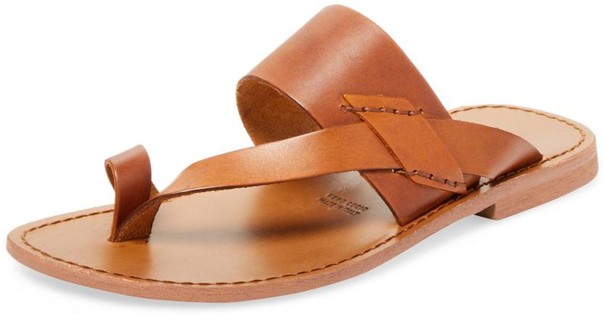 8cb971fd580d Lyst - Miramare Italia Toe Ring Thong Sandal in Brown