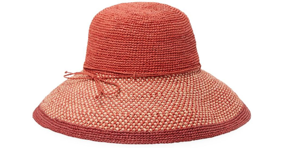 2947545431bc9 Lyst - Helen Kaminski Provence Bucket Hat in Red