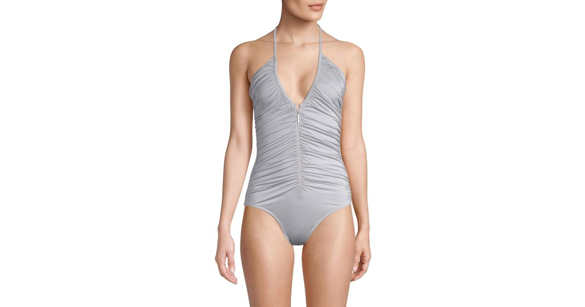 9d9b8aa4c6 Melissa Odabash Ruched One-piece Swimsuit - Lyst