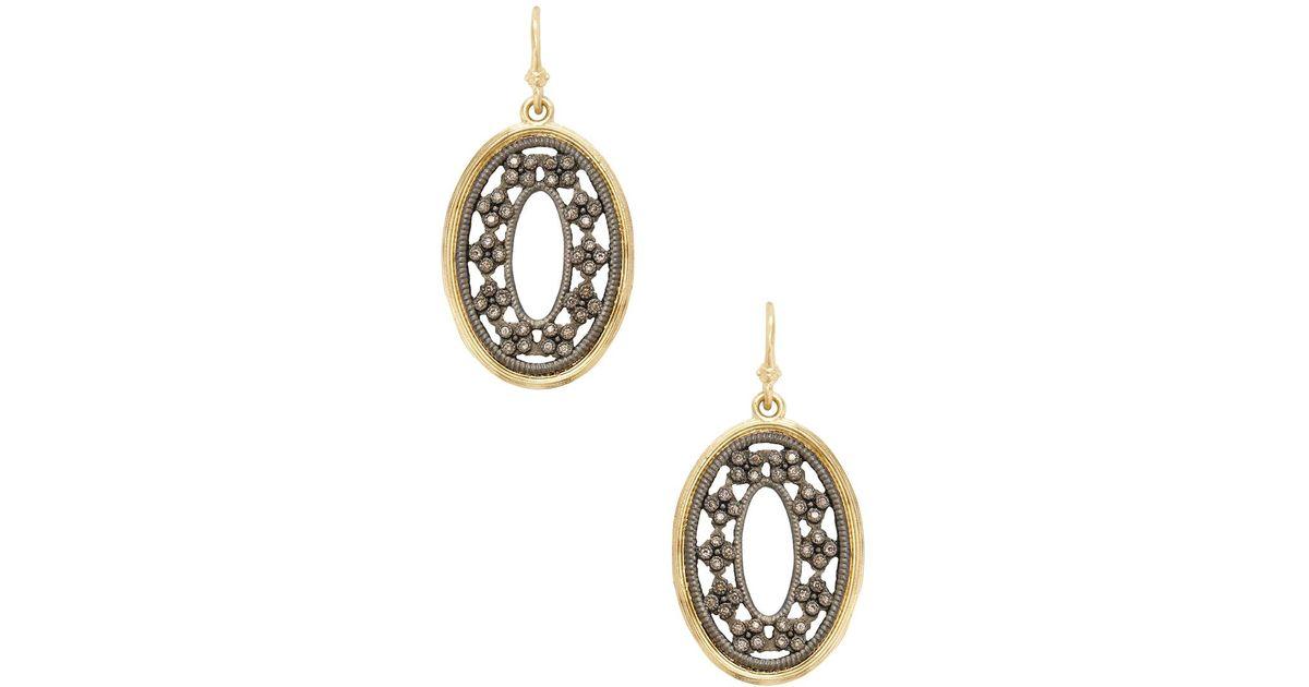 Armenta Old World 18k Gold/Silver Chain Chandelier Earrings m3kJSw4dqz