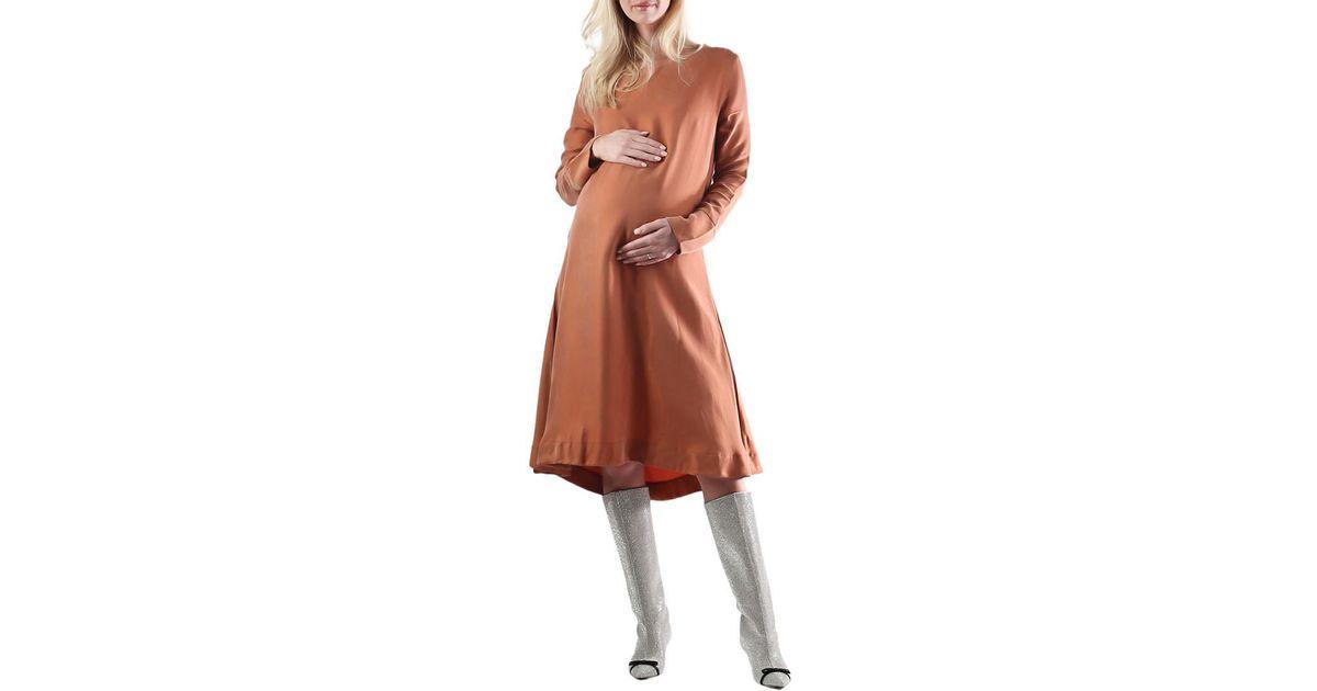 567b99823adfa Lyst - Madeleine Maternity Hemp & Linen-blend Sway Dress in Brown