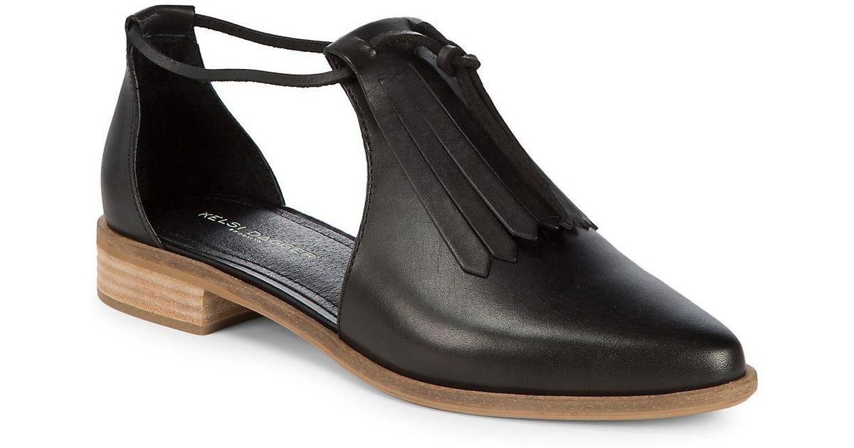 edab38c6794f Lyst - Kelsi Dagger Brooklyn Alani Leather Fringe Shoes in Black