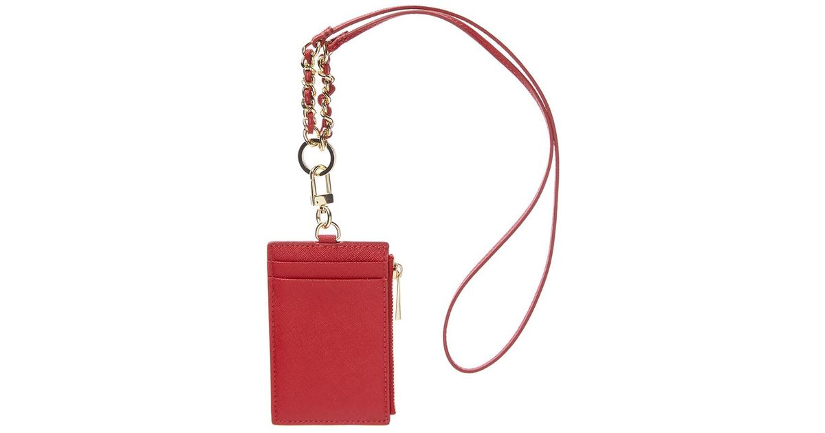 269605f64c13 Tory Burch Emerson Leather Lanyard in Red - Lyst