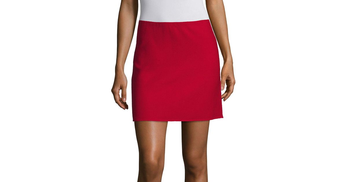 6229c34888 Lyst - Theory Irenah Saxton A-line Mini Skirt in Red
