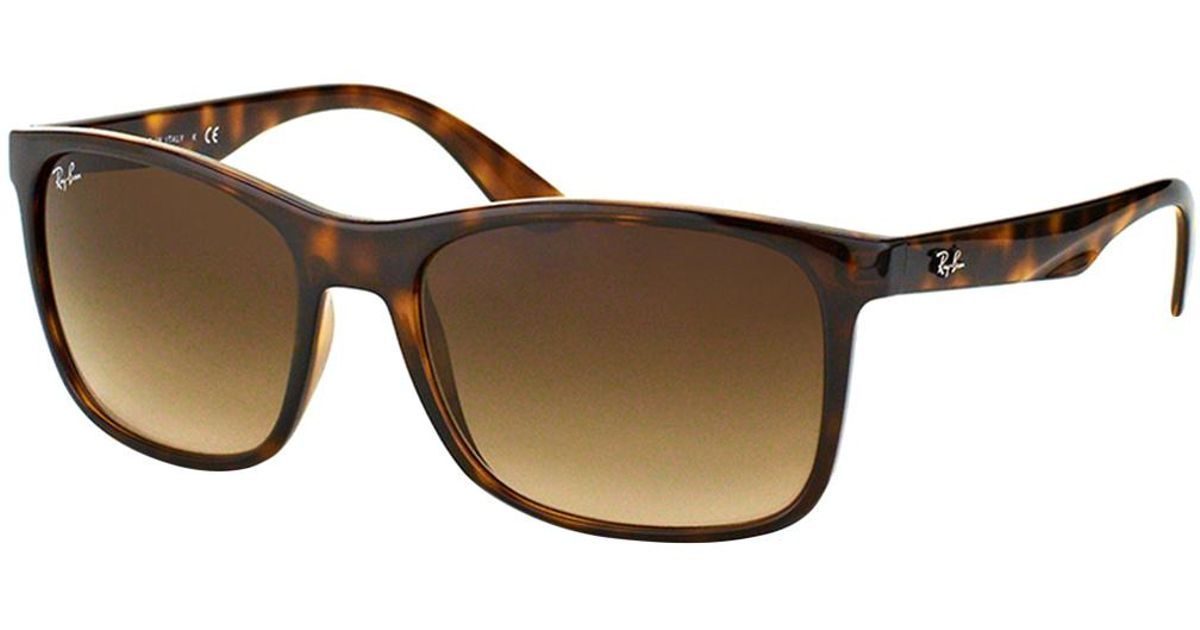 ca3e40dc5a Lyst - Ray-Ban Rb4232 Square Frame in Brown