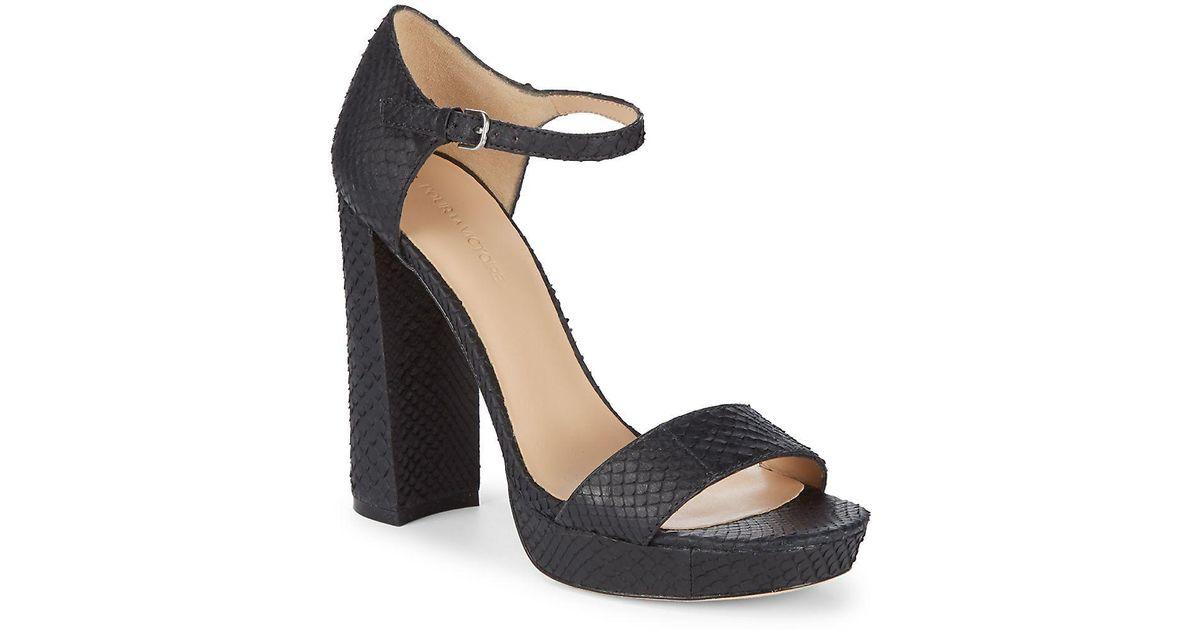 f961c5fb1c99bf Lyst - Pour La Victoire Yvette Platform Ankle-strap Sandals in Black