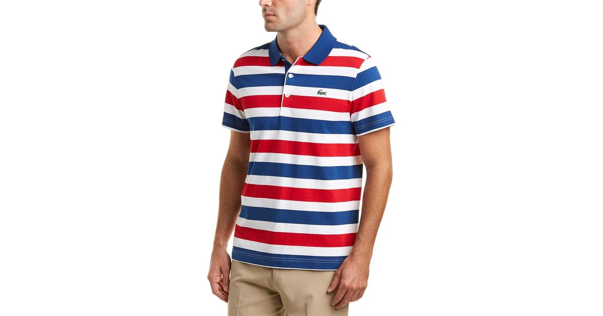 Blue Sport Lacoste All Polo Men Stripes For Raye Jersey Over LA354jqR