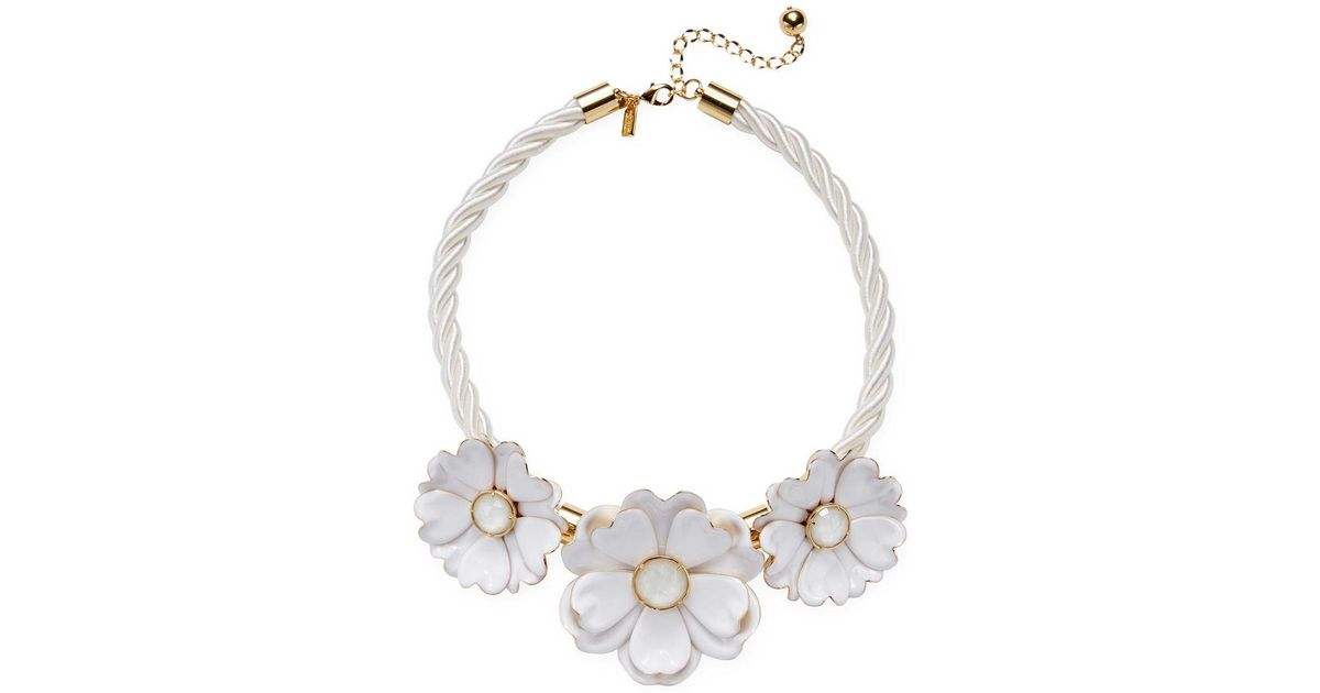 Lyst Kate Spade Bright Blossom 12k Plated Flower Statement