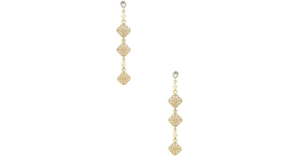 fa29f00d4 Lyst - Ettika Jewelry Square Pearl Drop Earrings in Metallic
