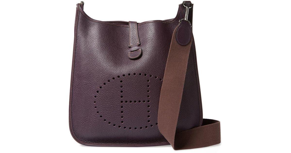 ... authentic lyst hermès vintage raisin clemence evelyne i gm in purple  b5b11 88b11 7f315f2ec6910
