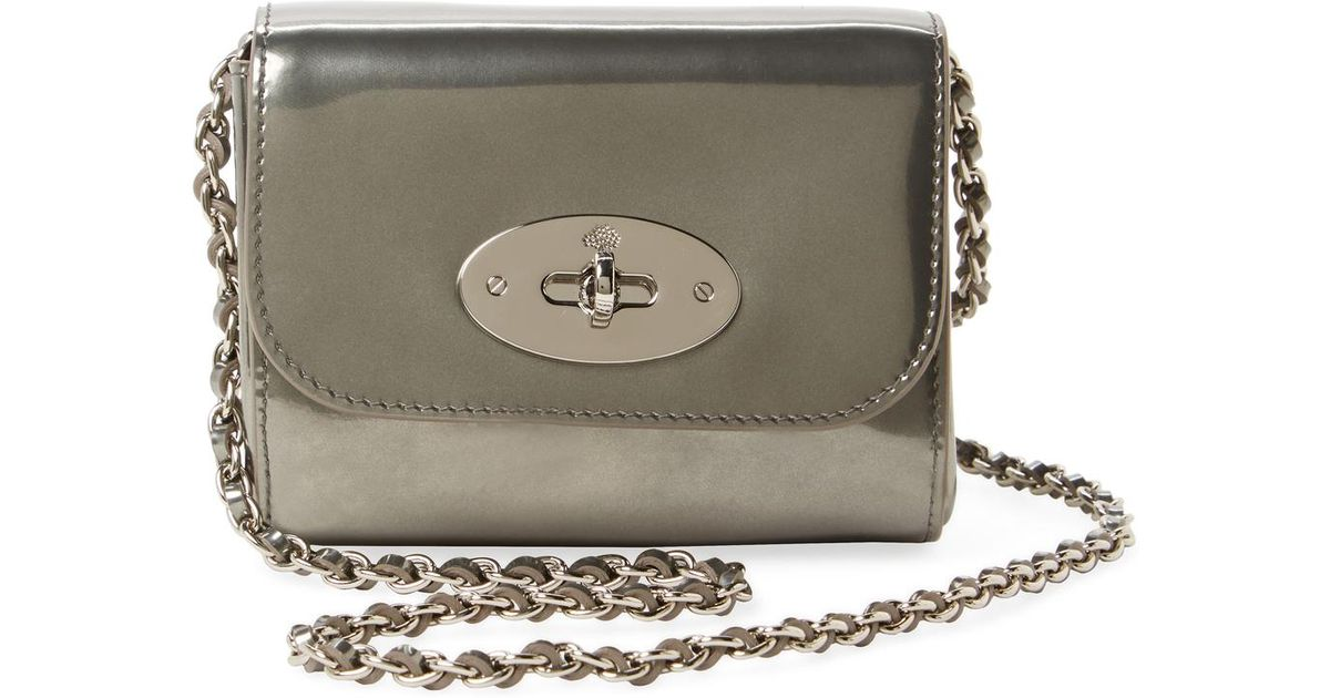 Lyst - Mulberry Lily Mini Metallic Leather Crossbody in Metallic a9c06e5c494ea