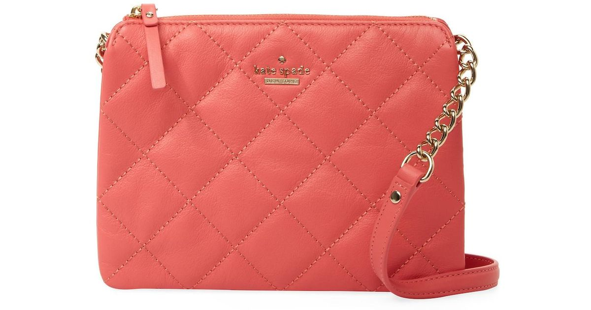 Lyst - Kate spade Emerson Place Harbor Quilted Leather Crossbody ... : kate spade red quilted bag - Adamdwight.com