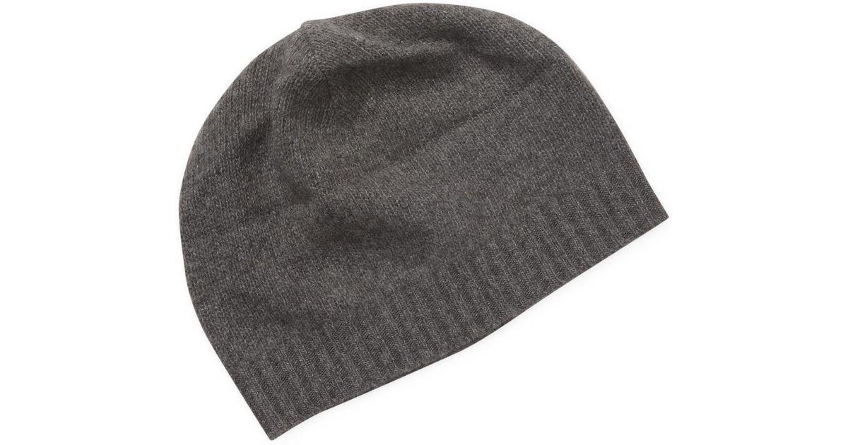 Lyst - Portolano Cashmere Skull Hat in Gray for Men bc39f751954