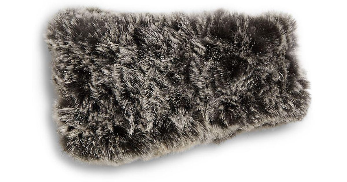 71c2d8dc357 Lyst - Saks Fifth Avenue Knitted Rabbit Fur Headband
