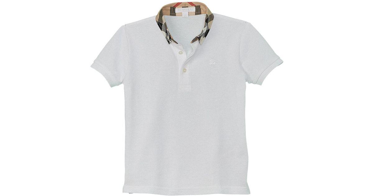 6193b47a Lyst - Burberry Boys' Polo Shirt in White