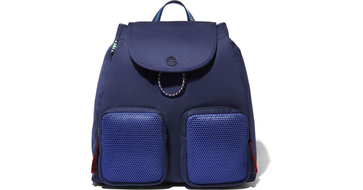 838b2b95156 Lyst - Tory Sport Neoprene Mesh Backpack in Blue
