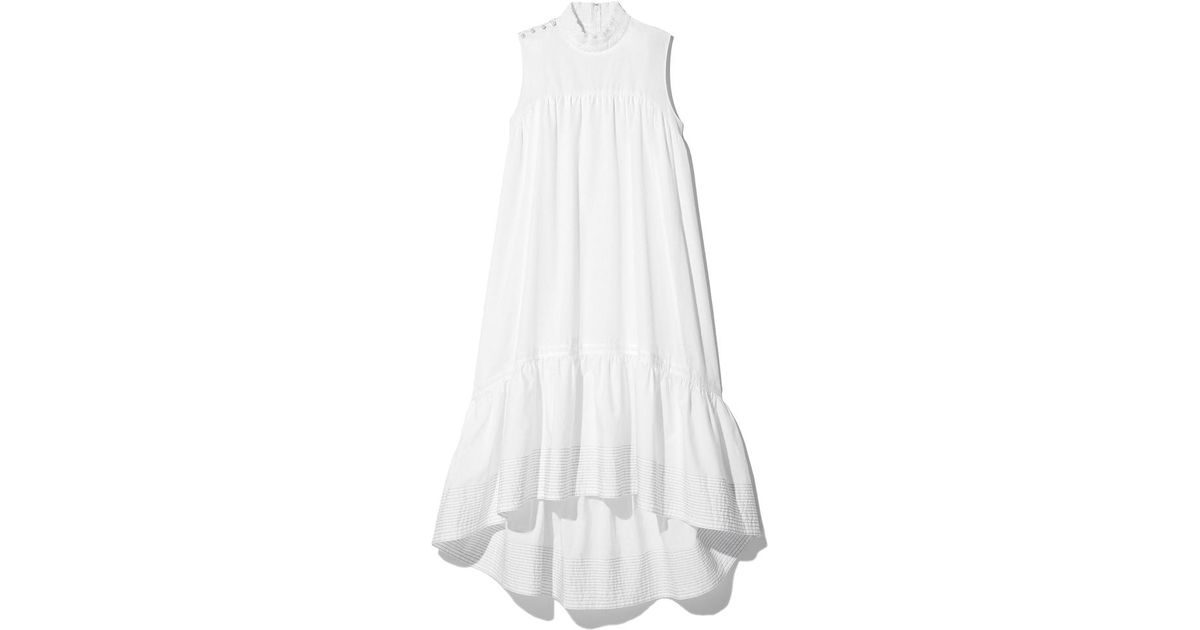 Lyst - 3.1 Phillip Lim Sleeveless Dress With Smock Neck in White