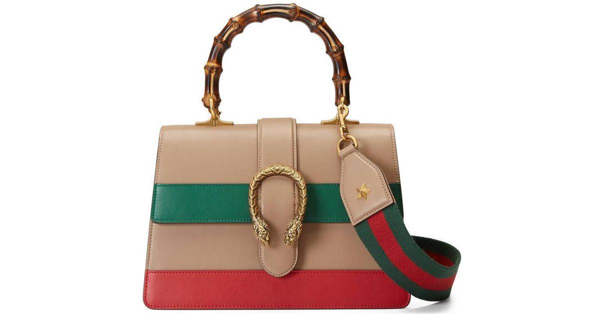 7ecbc0b8f Gucci Dionysus Leather Top Handle Shoulder Bag in Green - Lyst