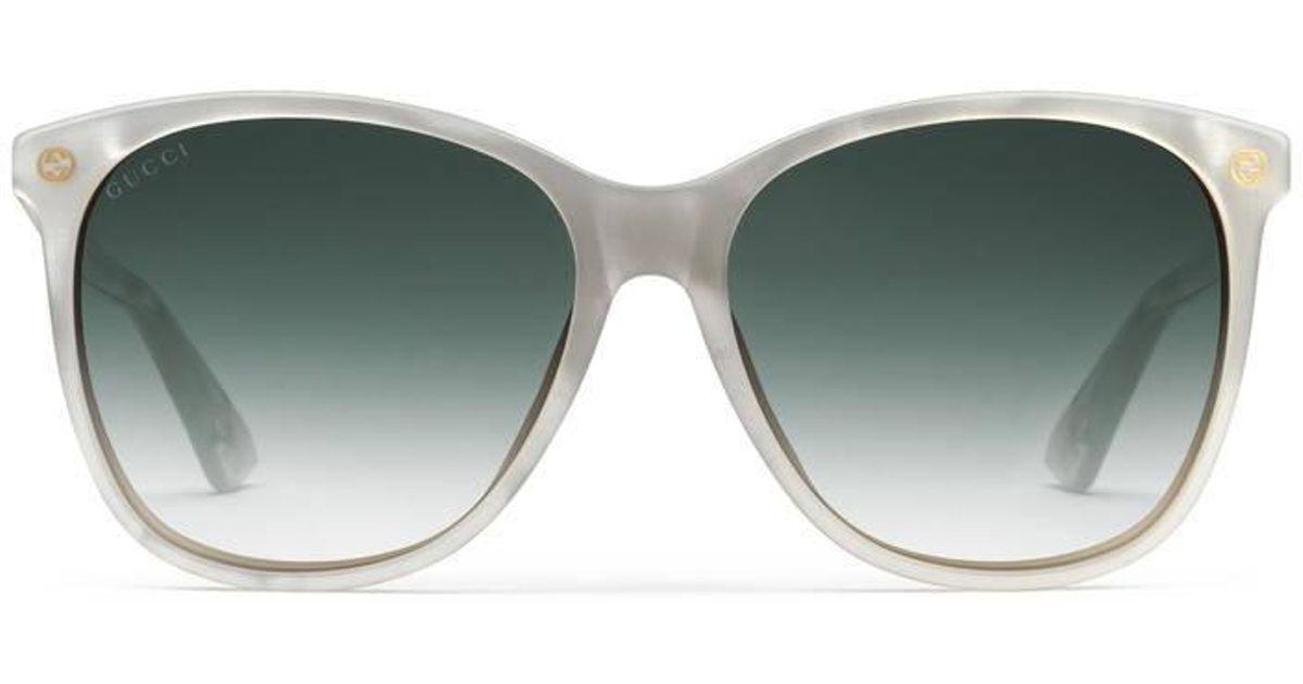84573e6c10 Gucci Oversize Round-frame Acetate And Metal Sunglasses