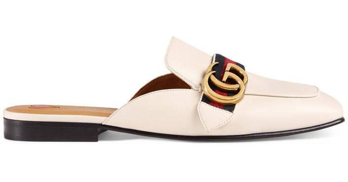 Chausson En Cuir Gucci - Blanc aAVikFZ6nP