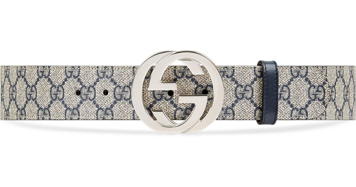 230933796f4 Gucci GG Supreme Belt With G Buckle in Blue for Men - Save 2% - Lyst