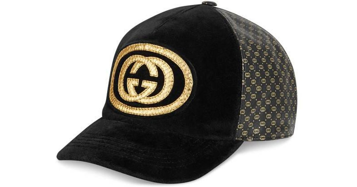 Lyst - Gucci -dapper Dan Baseball Cap in Black bdff18a0dcf8
