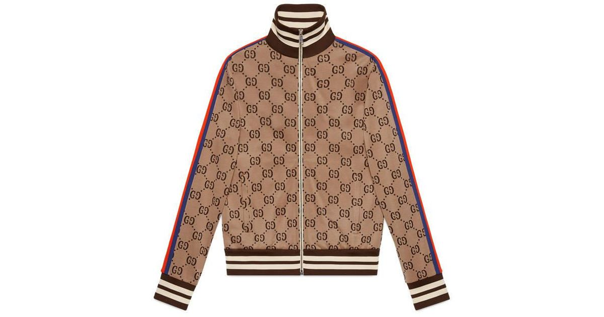 Lyst - Gucci GG Jacquard Cotton Jacket in Brown for Men 0ad3079f8f9f