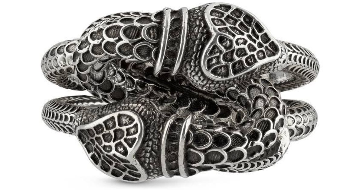 4670846837d18 Lyst - Gucci Garden Snakes Ring in Metallic