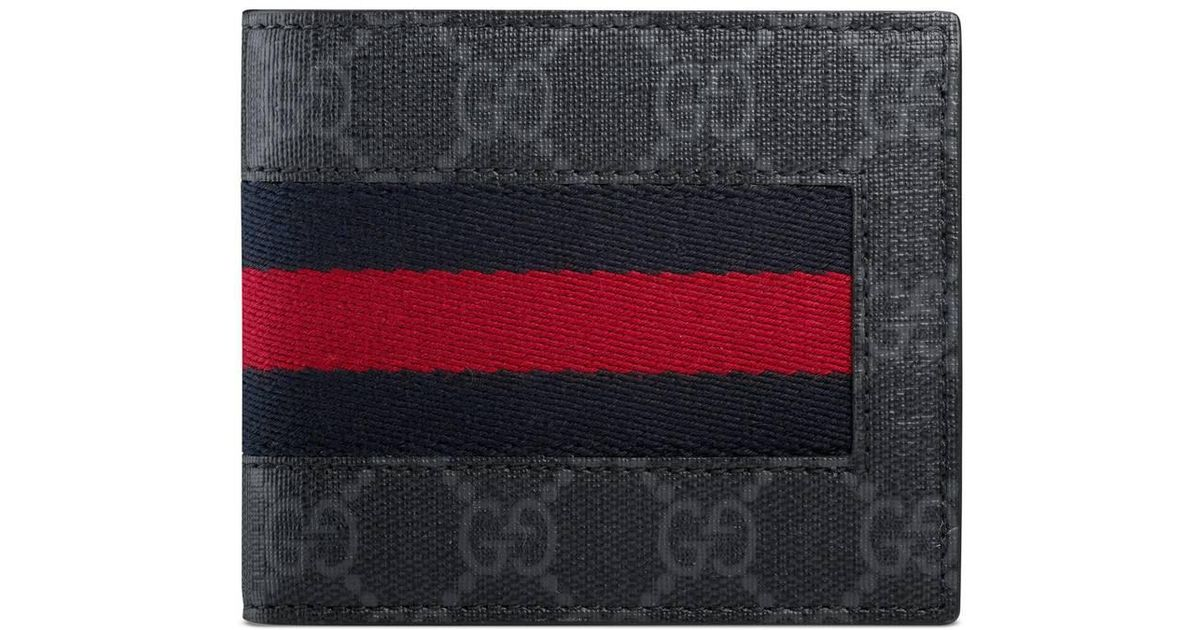 f0f1d01212cd Lyst - Gucci GG Supreme Web Wallet in Blue for Men