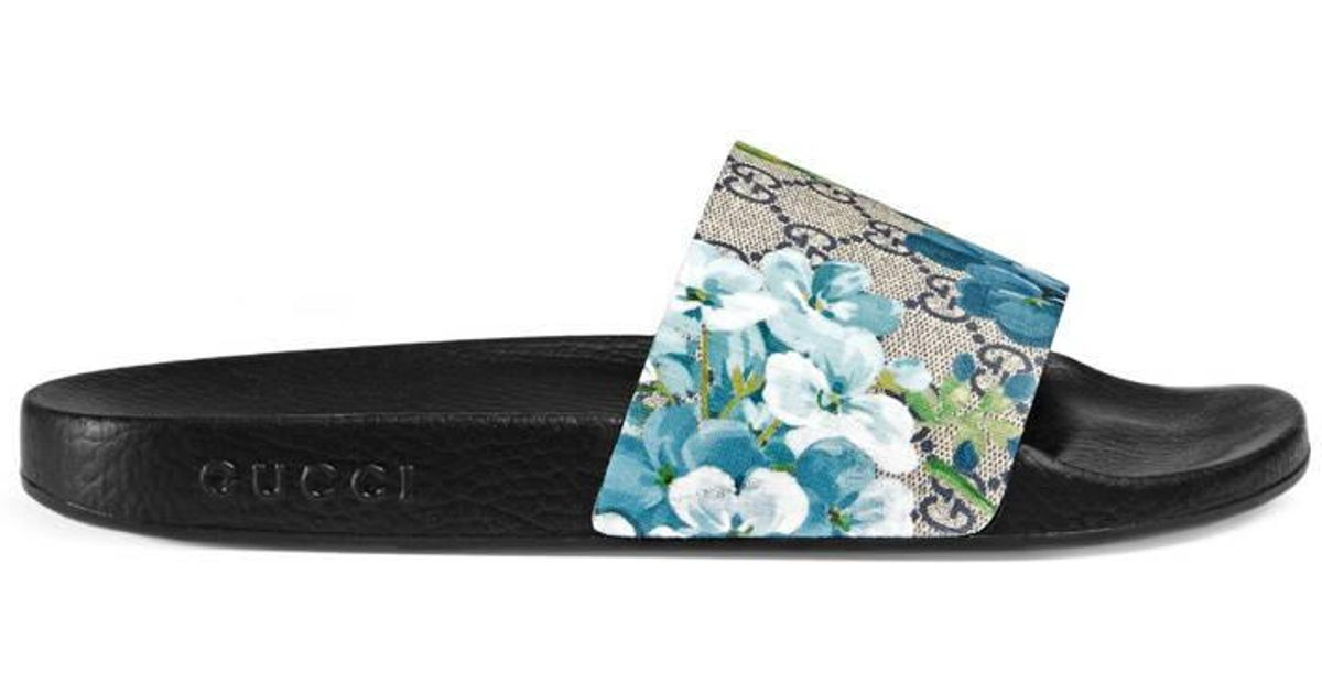 61bd97ae97befa Lyst - Gucci Gg Blooms Sandal in Blue for Men